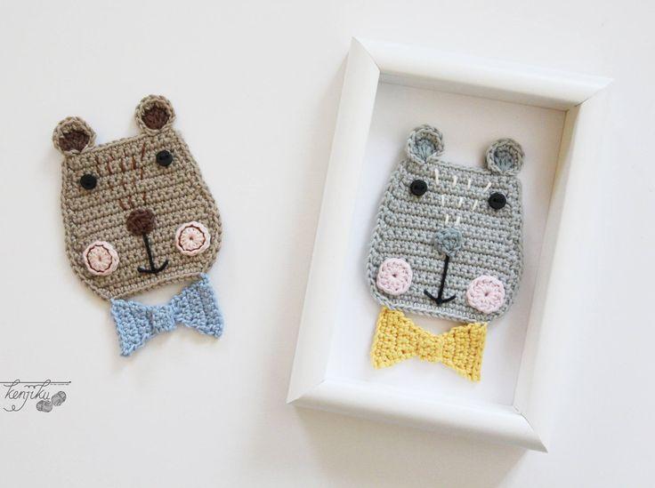 Kuma the Bear Crochet Pattern, Bear Crochet Pattern, Bear Crochet Applique Pattern, Bear Pattern, Scandinavian Style, Scandinavian, DIY by KenjikuMade on Etsy