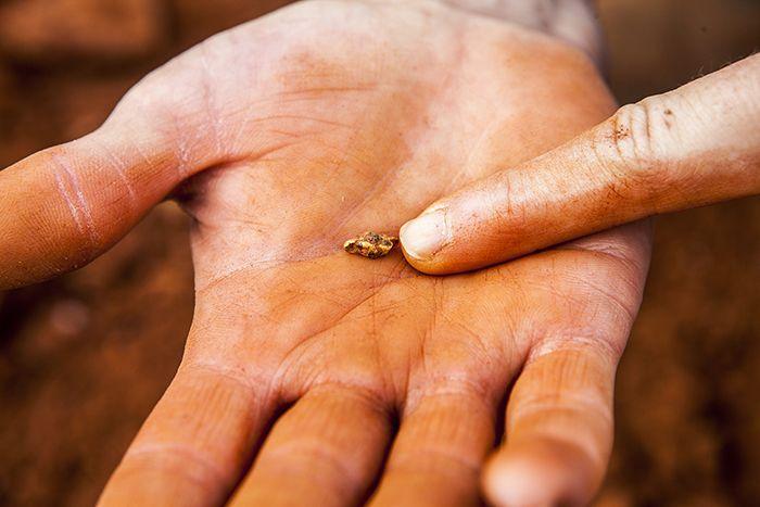 A gold nugget found near Leonora Western Australia
