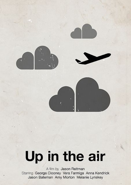 Pictogram movie posters – Up In The Air, designed by Viktor Hertz. #poster