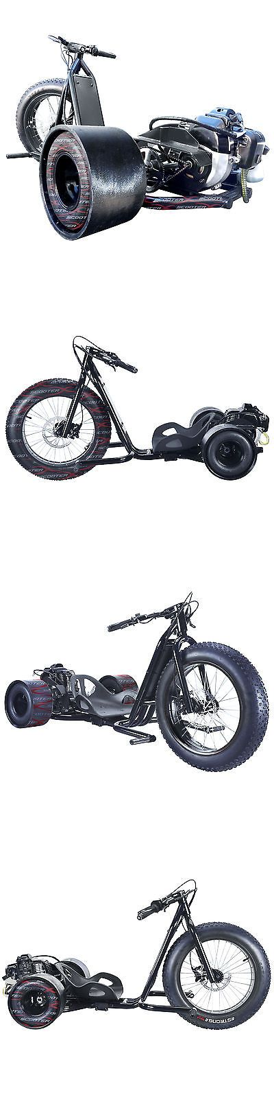 Gas Scooters 75211: Fast 49Cc 30Mph Black Scooterx Drifting Big 3 Wheel Gas Powered Drift Trike -> BUY IT NOW ONLY: $830.99 on eBay!