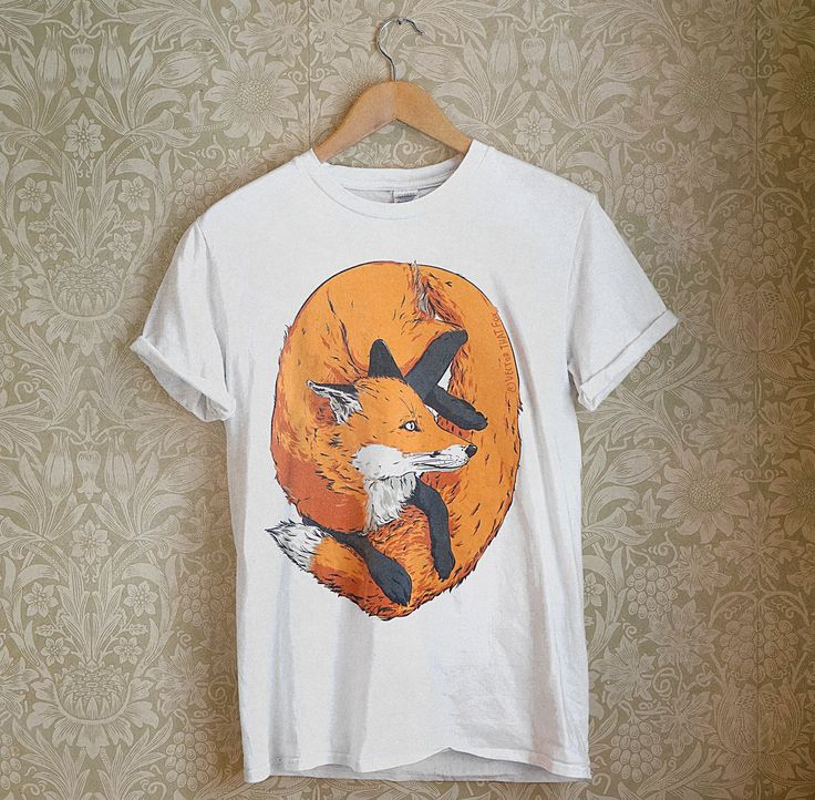 Illustrated fox t-shirt, by Vector That Fox