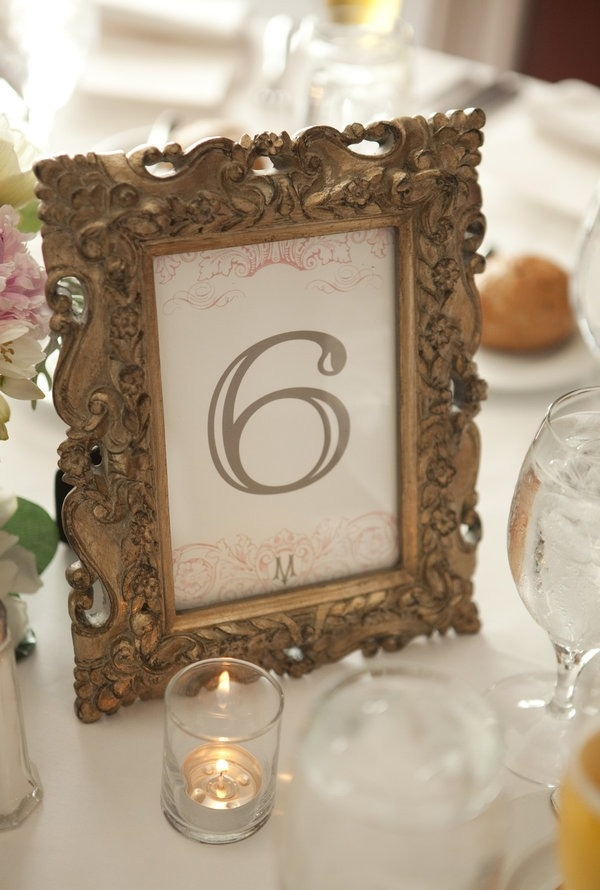 This Happily Ever After Starts With A Tale As Old Time Vintage Table NumbersFramed