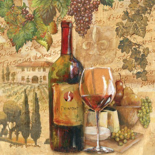 Tuscan Harvest - Mini Wine Stretched Canvas