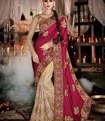 Buy gorgeous women indian designer Sarees Online for occasions like wedding saree, bridal saree, festivals saris with various discounted price at Mirraw saree