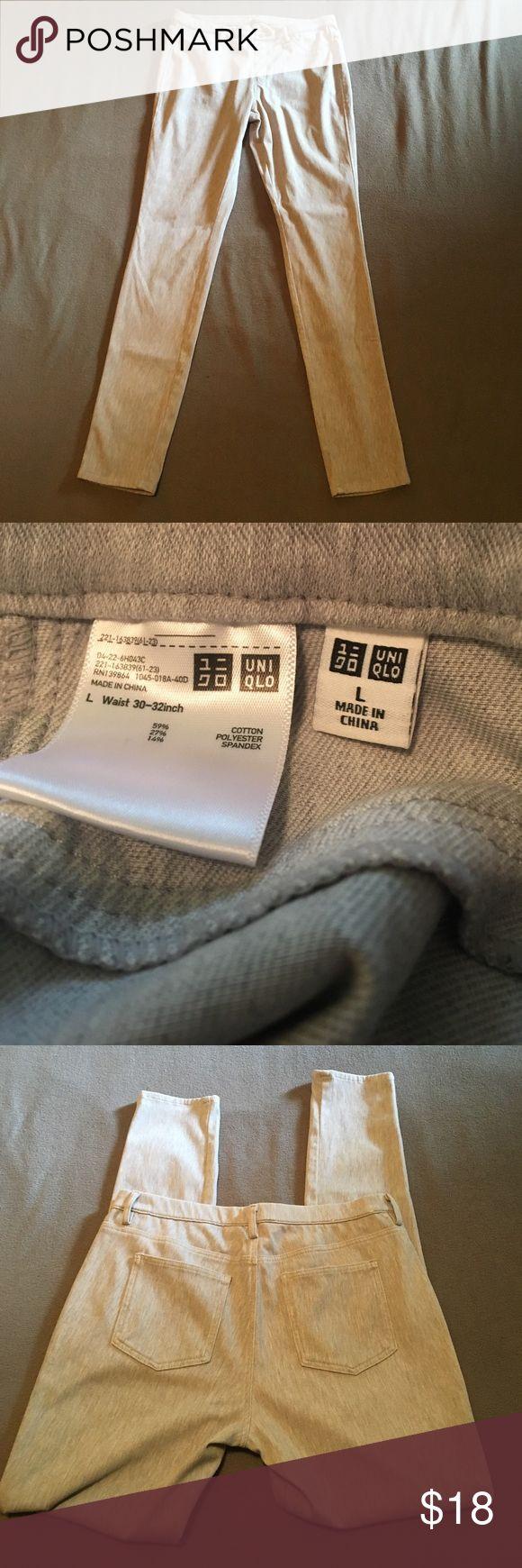 Uniqlo leggings size 30-32 gray women's trousers Used clean barely worn uniqlo leggings size 30 or 32 large we ship fast www.selvedgeseitz.com Uniqlo Pants Leggings