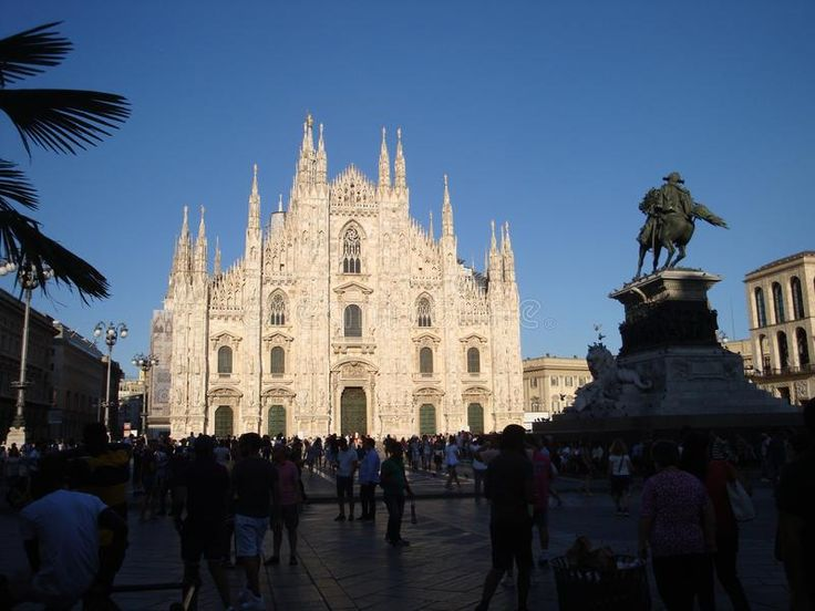 Photo about Duomo and Vittorio Emanuele`s Statue - July 2017 - Milan - Italy. Image of church, july, mary - 111277838
