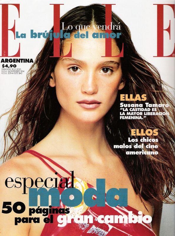 Ines Rivero ELLE Argentina 2002 Magazine Cover