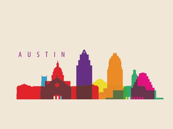 Check out Austin City Landmarks by IB on Creative Market