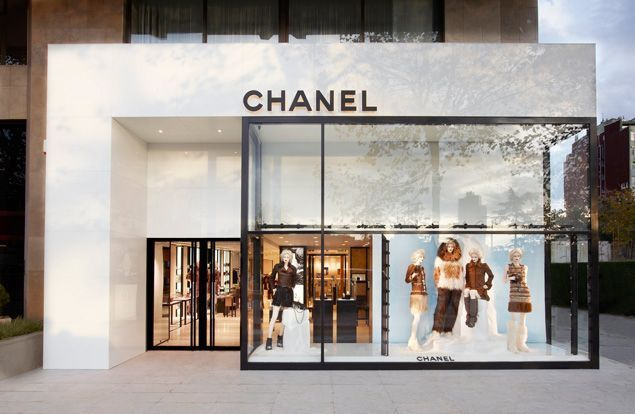 Modern Restaurant Front Elevation : Chanel facade shopfront design pinterest window