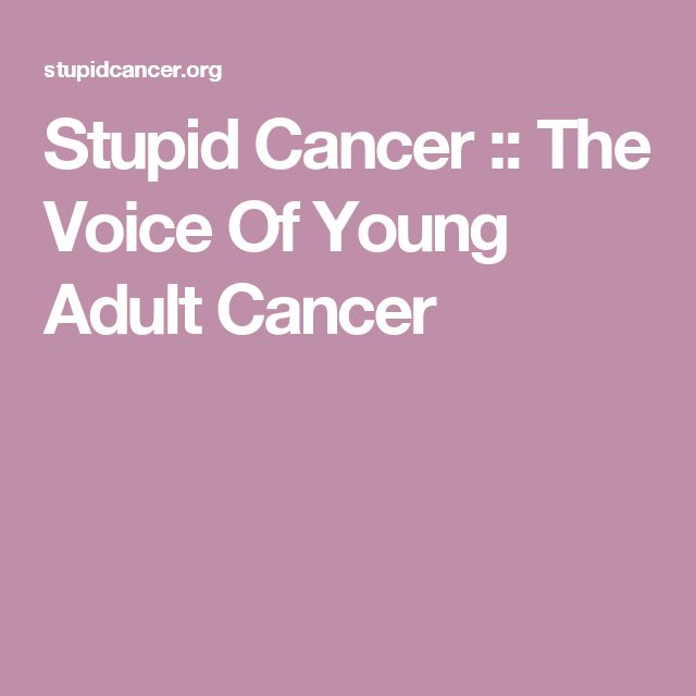 Stupid Cancer :: The Voice Of Young Adult Cancer