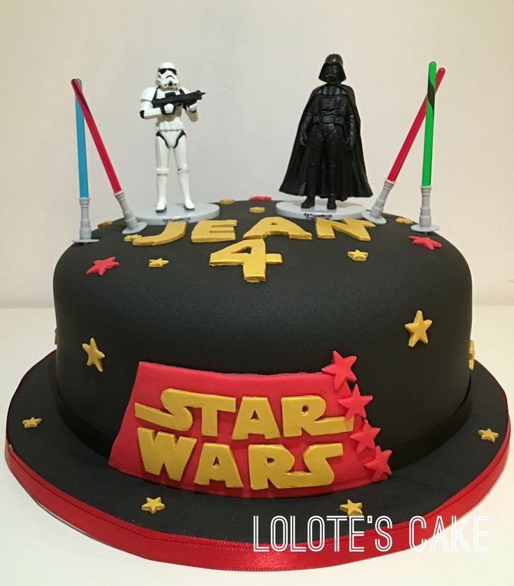 Cake design - star wars - gateau - pâte à sucre