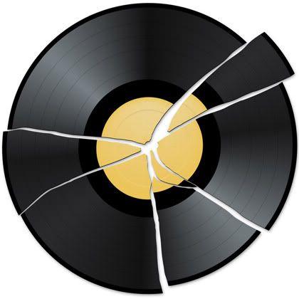 Image result for broken record clip art