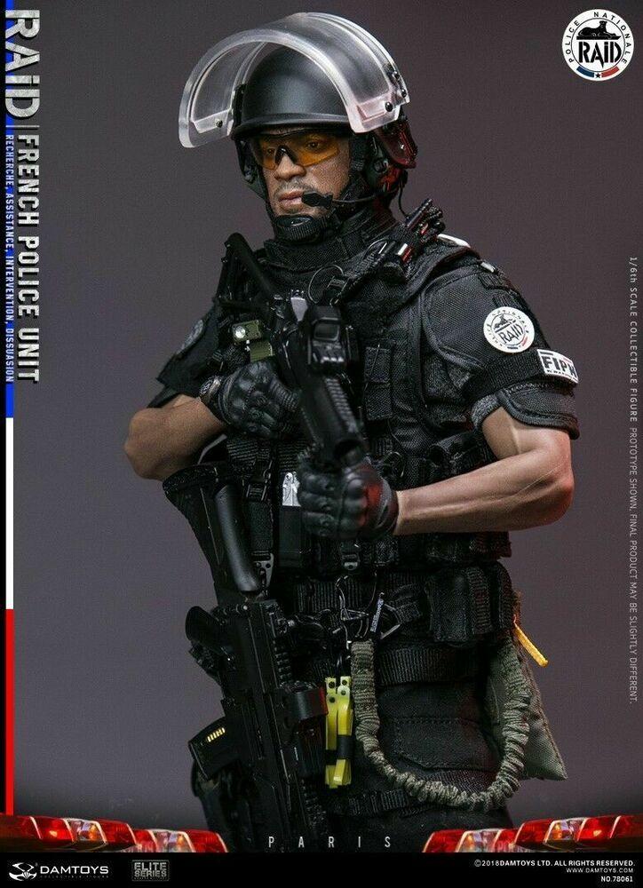 DAMTOYS DAM 78061 1//6 Scale French Police Unit Raid in Paris Head Sculpt
