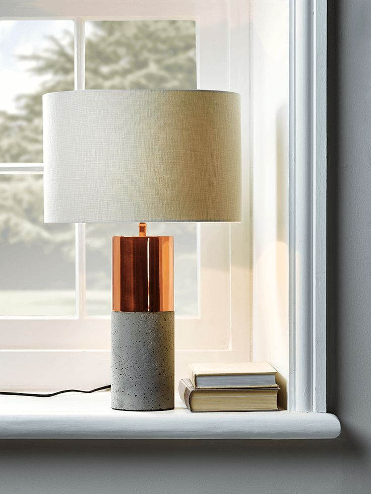 NEW Concrete & Copper Table Lamp