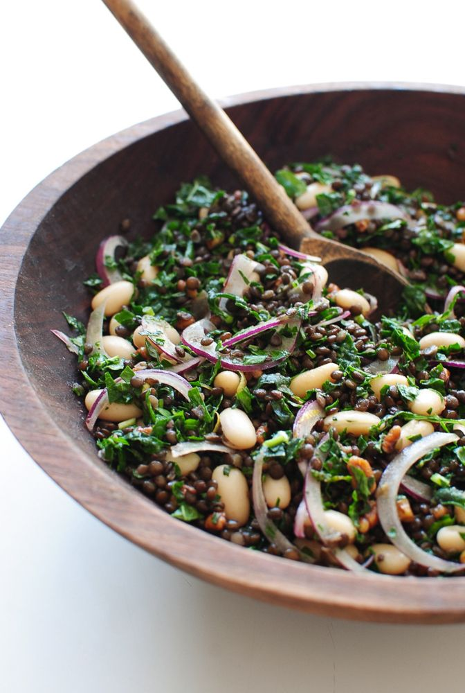 Lentil, Kale and White Bean Salad | Bev Cooks | Bloglovin