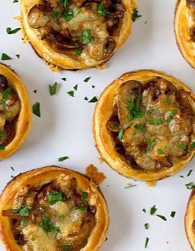 Caramelized Onion, Mushroom & Gruyere Tartlets | Brown Eyed Baker # ...
