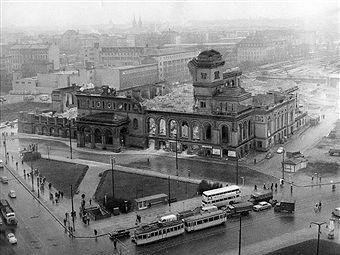 Berlin Anhalter Bahnhof und Askanischer Platz 1961