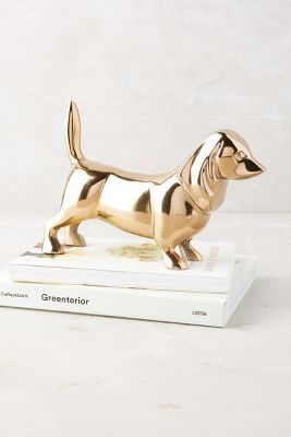 Golden Dachshund Decorative Object | Anthropologie