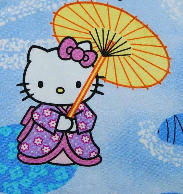 Hello KItty #Japanese #Kimono #Parasol