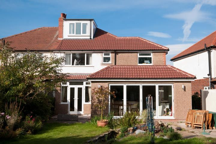 Single storey rear extension to semi detached house in Sale