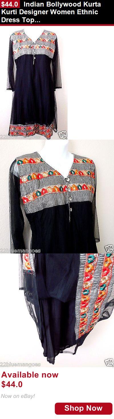 Cultural and ethnic clothing: Indian Bollywood Kurta Kurti Designer Women Ethnic Dress Top Tunic Pakistani BUY IT NOW ONLY: $44.0