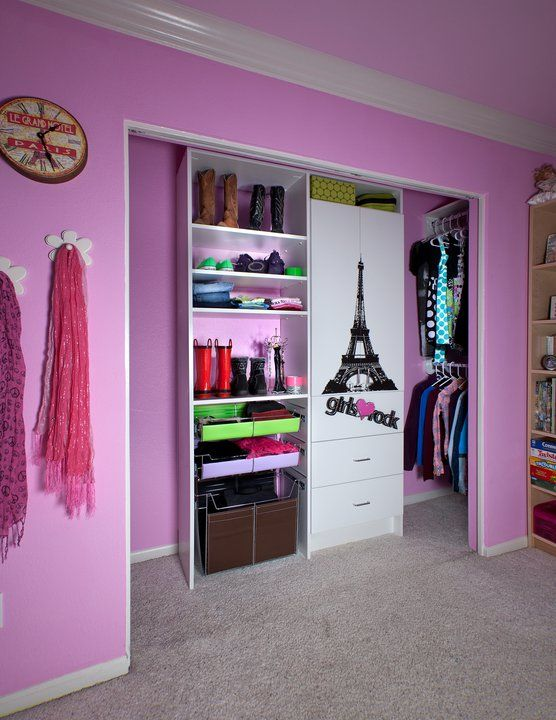 How To Turn The Standard Closet Into A Tweens Dressing Room Remove Doors
