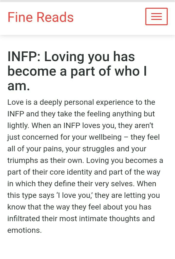 You have become a part of me  You do   INFP Relatable   Infp