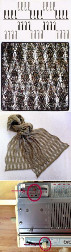 Вдохновение и реализация: сделай сам моды блог: DIY - машинного вязания: модные кружевные платки в два часа