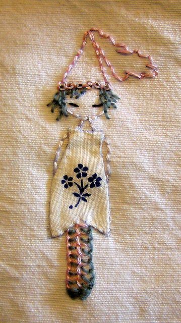 Princess I by Nicky Austin, via Flickr - very cute embroidery idea!