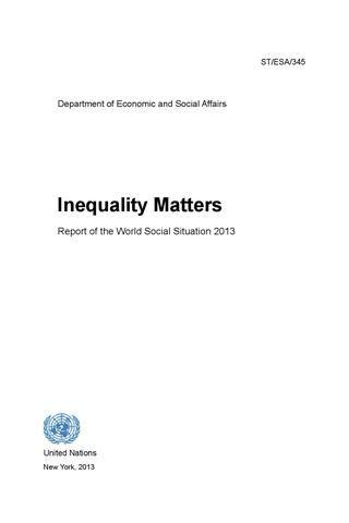 Inequalitymatters