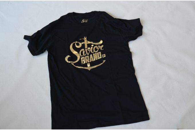 Savior Brand Co ~ Black Classic Foil T~Shirt by Savior Brand Co