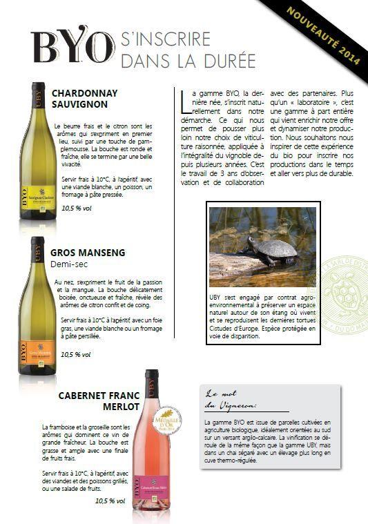 vins byo /domaine d'uby