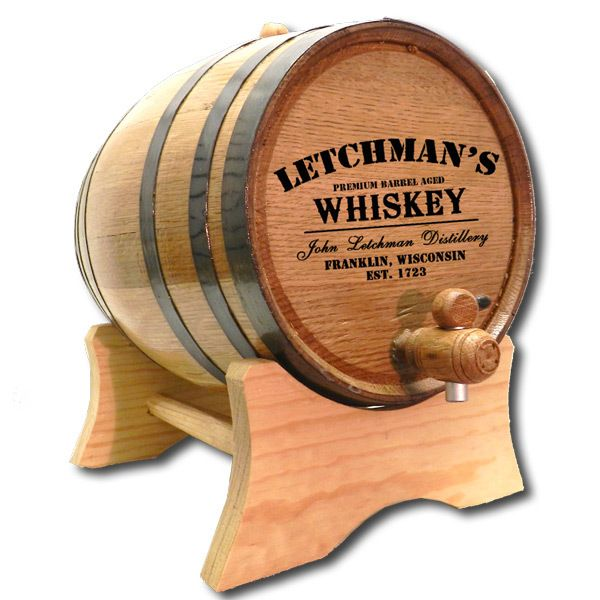 Whiskey Distillery Barrel Personalized - a real oak barrel you can use to age whiskey in your home bar #barrel #whiskey