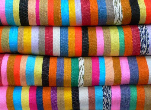 handwoven rainbow kilims by Le Souk via D*S: Colour, Kilim Stripes, Inspiration, Colors, Art, Colorful Stripes, Textile