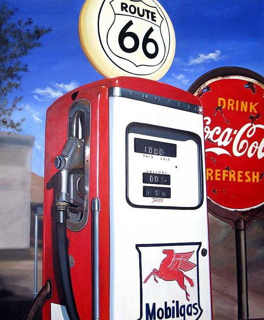 Mobilgas, acrylic on canvas, 100x120cm 2012