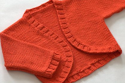 The Design Studio: Baby Bolero Shrug Hand Knitting Pattern