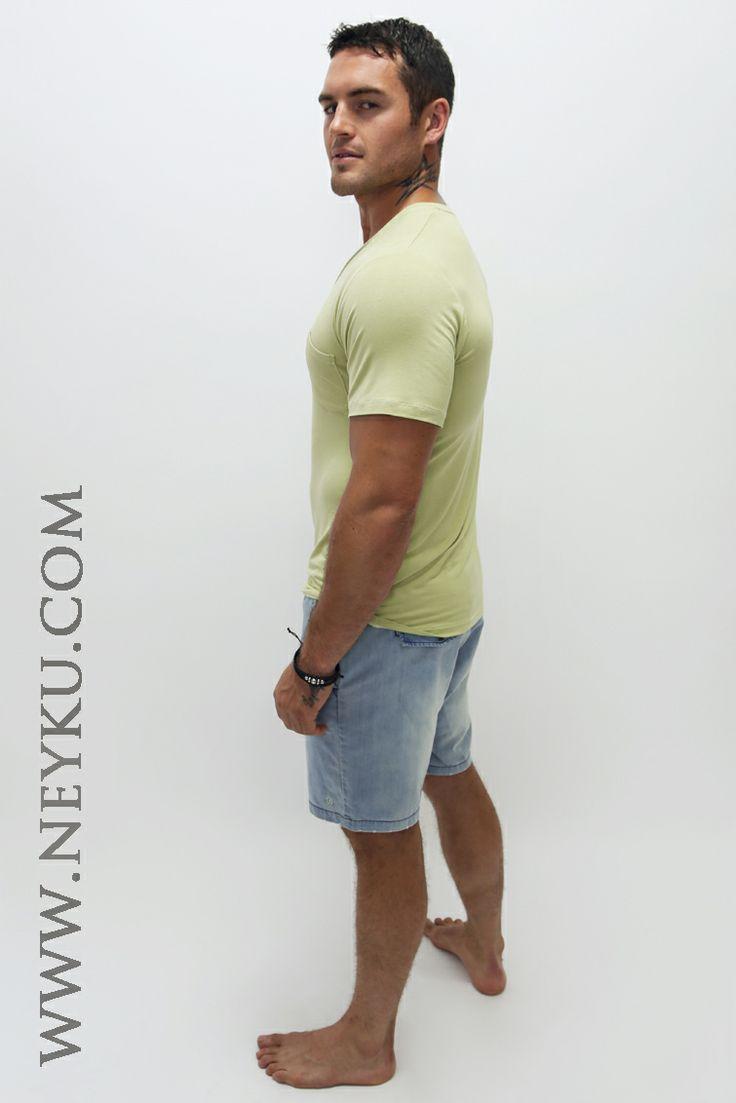 Neyku Boyfriend Bamboo T's  Model Daniel Conn