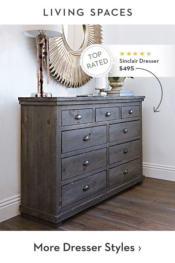 Rustic Bedroom Dresser With Plenty Of Storage Rustic Bedroom
