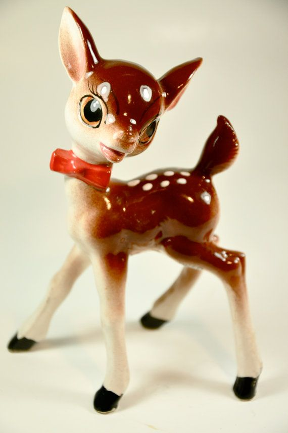 I remember such figurines from my childhood.  Sadly, I never had one.  // deer figurine