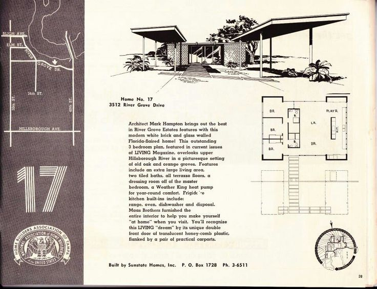 17 Best Images About Mid Century House Plans On Pinterest