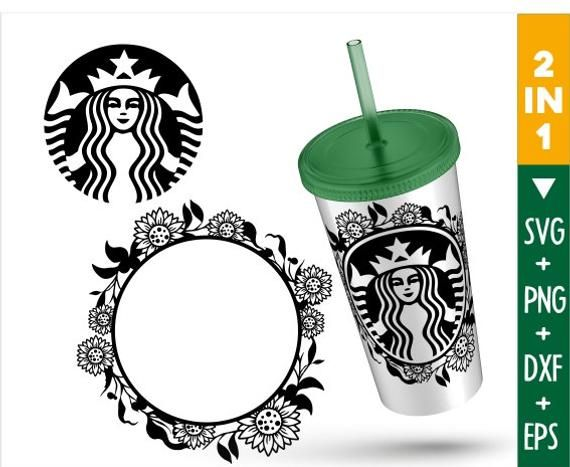 Sunflower Starbucks Coffee Svg Starbucks Coffee Svg Custom Etsy In 2020 Coffee Svg Starbucks Logo Cricut