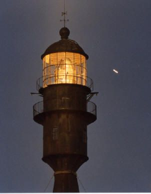 Faro Punta Medanos de noche