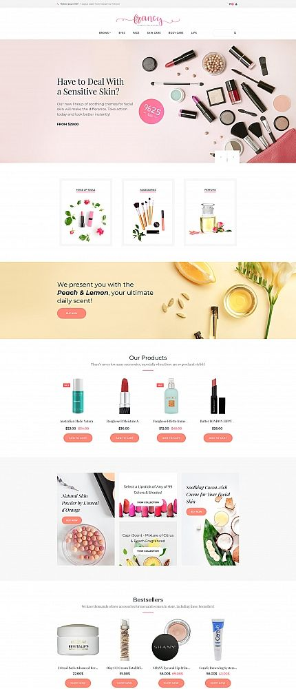 Francy - Cosmetics Store MotoCMS Ecommerce Template
