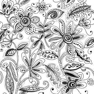 Sketch batik contemporer, Zentangle, Sketch Drawing, Pattern Design