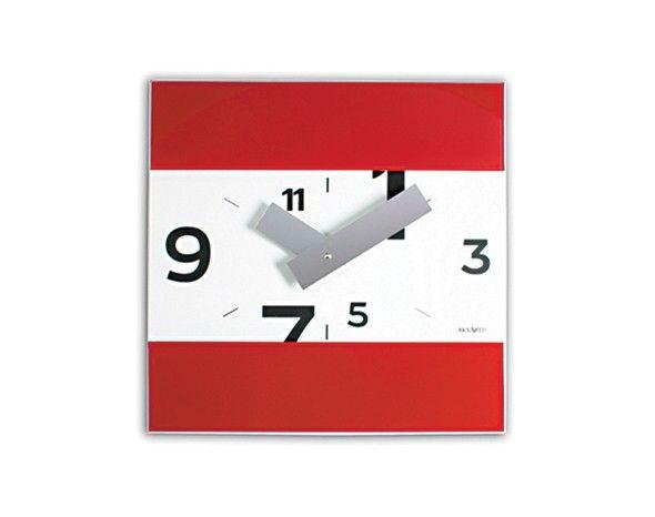 Orologio #Rosso da Parete. #Design #Casa #Ufficio