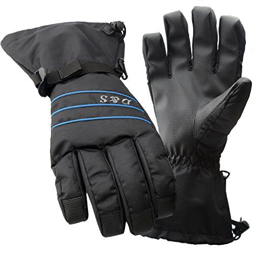 DS Ski Gloves Men  Waterproof Warm Adult Cold Weather Winter Glove  Full Finger Gear  Perfect for WindproofSnowSnowboardSnowmobileSkiingSnowboarding  Insert HIPOTEX Waterproof Bag Black L >>> You can find out more details at the link of the image.(This is an Amazon affiliate link and I receive a commission for the sales)