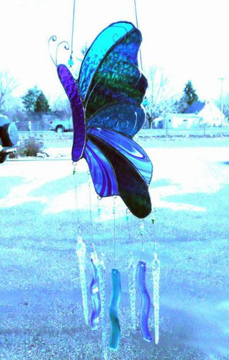 Fused & Stained Glass Windchimes