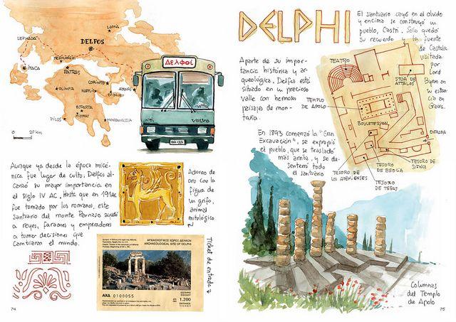 Cuadernos de Viaje de Joaquin Gonzalez Dorao.  Fantásticos...