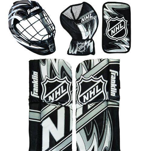 Franklin Sports NHL Mini Hockey Goalie Equipment with Mask Set - http://hockeyvideocenter.com/franklin-sports-nhl-mini-hockey-goalie-equipment-with-mask-set/