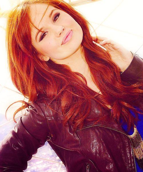Debby Ryan - love the hair color